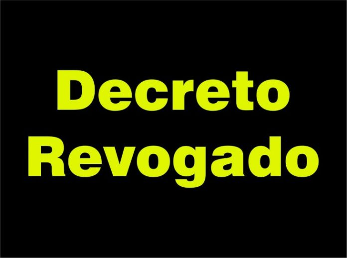 DECRETO Nº 020 DE 01 DE AGOSTO DE 2020 – REVOGA O DECRETO 19/2020