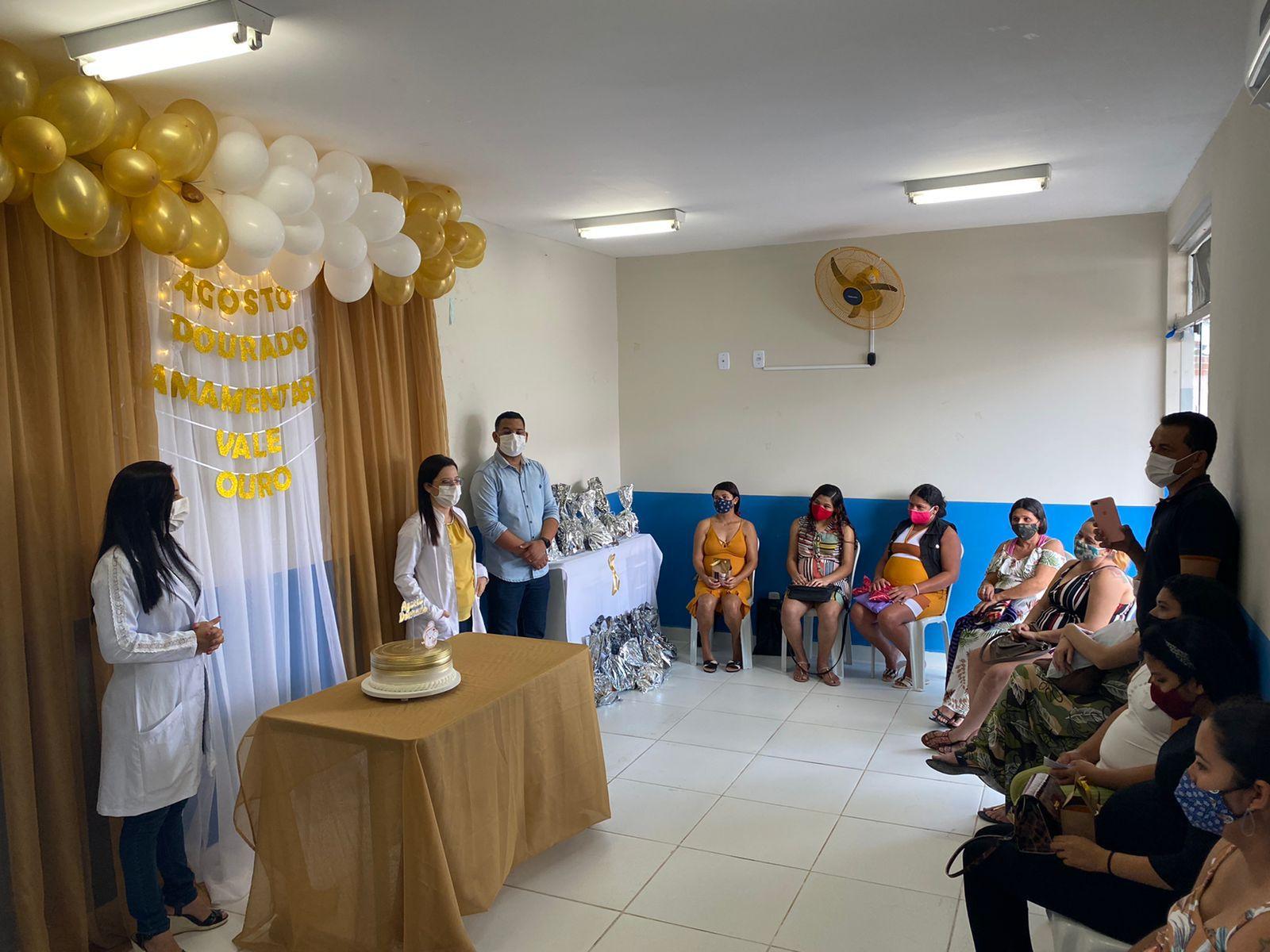 Secretaria de Saúde realiza campanha de incentivo à amamentação. AGOSTO DOURADO